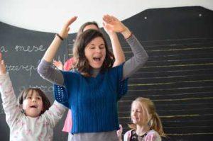 Mimicking the teacher at Waldorf Steiner school lanuage teaching
